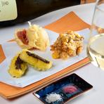 季節野菜の天ぷら ※季節により変更あり