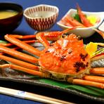 三国漁港で水揚げした新鮮な魚介類を使用