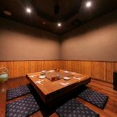 利用人数に応じて細やかに選べる、多彩に用意された個室