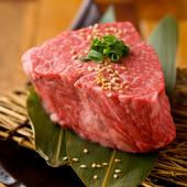 インスタ映え間違いなし!塊肉を豪快に切り分ける『塊ランプ肉 200g』