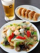 餃子+あんかけ焼きそば+生ビール