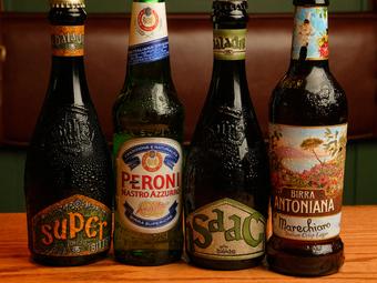 イタリア産ワインはもちろん、クラフトビールも充実の品揃え