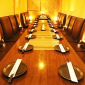 デザインされたオシャレな個室席でゆったりとお楽しみください。