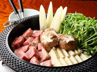 八丁味噌ダレを使ったオリジナルレシピの『牛鍋』