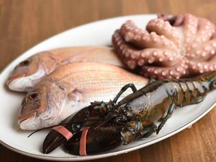 昼網市で仕入れる新鮮な明石の魚介、地元農家直送の旬野菜