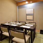 大切な日にふさわしい特別な料理と、心落ち着く和室