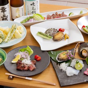「日本料理こうのを堪能できるおまかせコース」6,000円(税込)