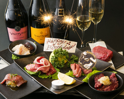 スパークリングワイン付の記念日のコースです。厳選された和牛を堪能できる豪華コースをご提供いたします!