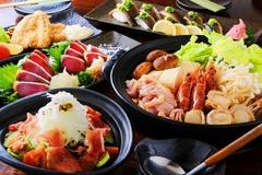 土佐の食材、料理をふんだんに楽しめる飲み放題付きのご宴会コースです。