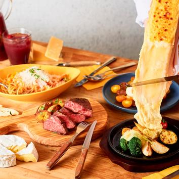 『COMTEコース』看板商品のラクレット、4種のチーズが楽しめる