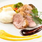 美味&ボリューミー『鴨肉のロースト 柑橘と赤ワインのソース』