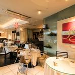 ハイクオリティの料理と空間を、気軽に楽しめる雰囲気でご提供