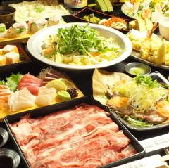 特選牛しゃぶ・お刺身・ズワイガニの天麩羅、牛タン蒸し含む豪華絢爛な全12品!