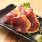 素材にこだわり、全国各地から厳選した新鮮で旬な食材を味わえる