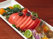 その日獲れる旬の野菜を使用した『本日の野菜ソムリエサラダ』