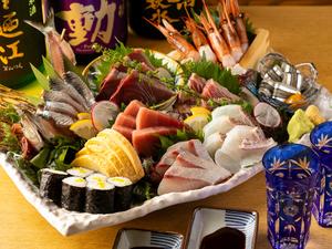 魚と野菜にこだわって仕立てる『黒潮コース』