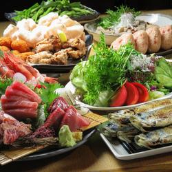 <当店自慢の食材でおもてなし>豊洲直仕入れのお刺身、契約農家のお野菜など、こだわりの食材を手作りで!