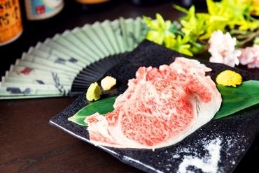 インパクト抜群!口の中で溢れ出す旨味がたまりません!和牛リブロースの大判炙り肉寿司