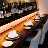 ソムリエが選りすぐりのワインを、料理に合わせてペアリング