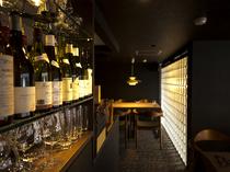 ワインはイタリア、フランス・ブルゴーニュ産が中心