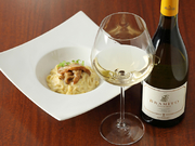 『ポルチーニ茸のパスタ』に『ブラミート樽熟のシャルドネ』イタリア白ワインの歴史を変えた」と言われる『チェルヴァロ・デラ・サラ』の弟分。