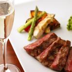 山形牛の炭火焼グリルとイタリア・トスカーナワインを堪能