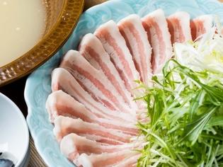 独自の配合でブレンドした出汁を味わう『豚ネギしゃぶ』