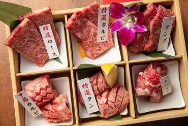 店主が目利きした自慢の肉の盛り合わせ『特撰6種盛合せ』