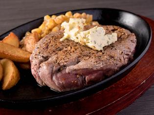 ド~ンと200gの旨い肉をレアで楽しんで! 『牛赤身ステーキ』