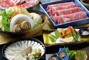 季節ごとに旬の味覚と、こだわり肉を贅沢に堪能『しゃぶしゃぶ会席』