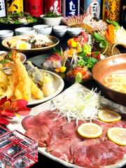 『天ぷら3種』や『カツオ藁焼き』などが付いた、リーズナブルなコース!