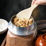 釜飯・あら汁・海鮮サラダ・お新香