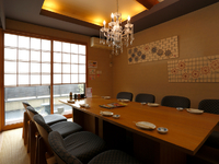 改まった会食にも使える、洗練された個室空間