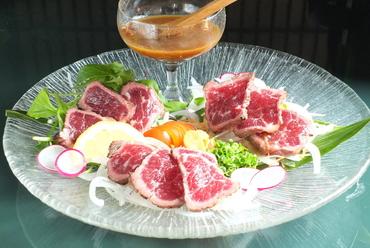 桜肉(馬肉)タタキ・ジャポネソース