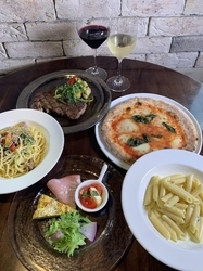 スパークリングワインも!牛リブロースのビステッカなど本格イタリアン全6皿×メッセージでお祝い