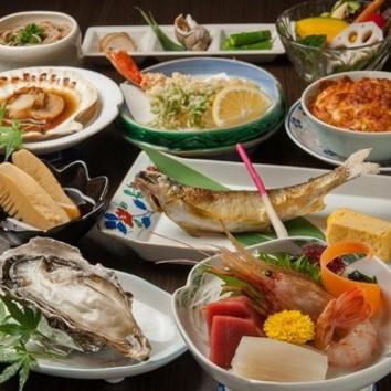 【当日予約OK!!】北海道満喫コース全8品(※料理のみのコース)
