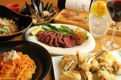 ココラの定番お料理がお手頃価格でお楽しみいただけるセットをご用意!Bコースはサガリステーキ付き!