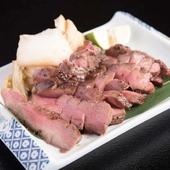 牛タンだけでなく、添えた白菜の浅漬けも自慢の『厚切り牛タン』
