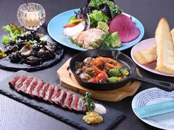 お客様の御予算や御希望に合わせたコース料理を提案させていただきます☆ (〈目安〉¥2500~4000)