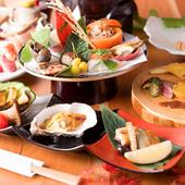 """会席料理で季節を感じる、日本料理ならではの""""粋""""をたしなむ"""