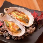 広島県産のプリッとした濃厚な味わい『牡蠣田楽』