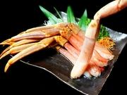 ※カニをご注文のテーブルにはしゃぶ鍋セットと焼き蟹セットをお持ちします。