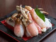 新鮮な素材であれば、まずは生の美味しさを確かめたいもの。蟹の美味しさをダイレクトに感じたいのであれば、ぜひともおすすめしたい逸品です。