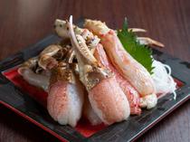 蟹の美味しさをダイレクトに感じる『蟹刺し』