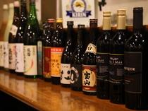 ワインや焼酎など、料理に合わせて選べるドリンク