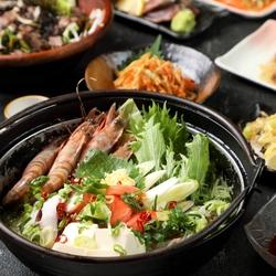 【浜松町駅 大門 個室 居酒屋】選べるメインは産地直送の鮮魚盛り合せかさっぱり鰤のしゃぶしゃぶなど!