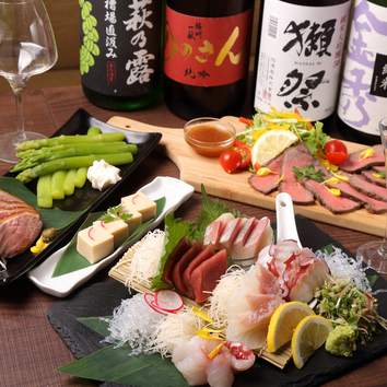 【カツオ春の最強プラン】日本酒含む飲み放題付 7500円→5000円
