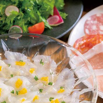 カジュアルプラン 前菜3種を含む合計6品 2500円(ご予約制)