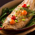 本日のお魚料理!(写真は『フランス産ドーバーソールのムニエル』)