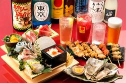 会社のご宴会や接待などにもおすすめの、極上コース!自慢の鮮魚を豪華に盛りつけた「大漁盛り」など贅沢に